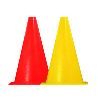 Høje kegler - sæt med 10 røde og 10 gule