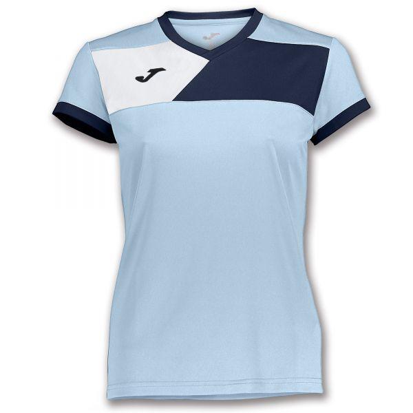 Joma T shirt Crew II til damer LyseblåMørkeblå