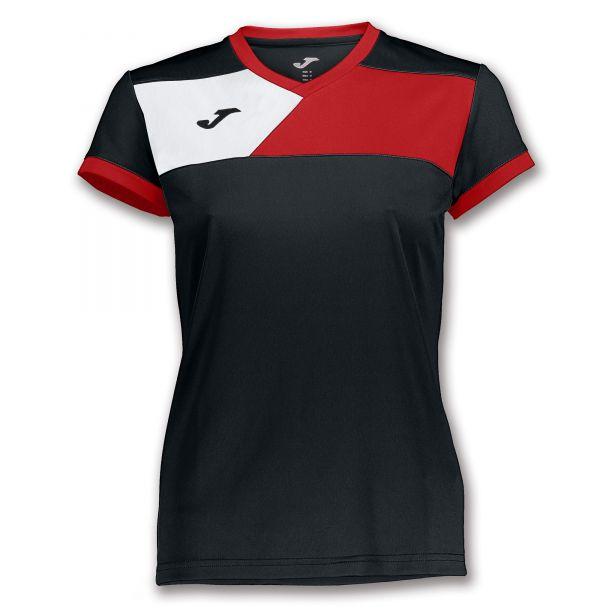 Joma T-shirt Crew II til damer - Sort/Rød