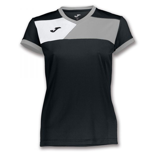 Joma T-shirt Crew II til damer - Sort/Grå