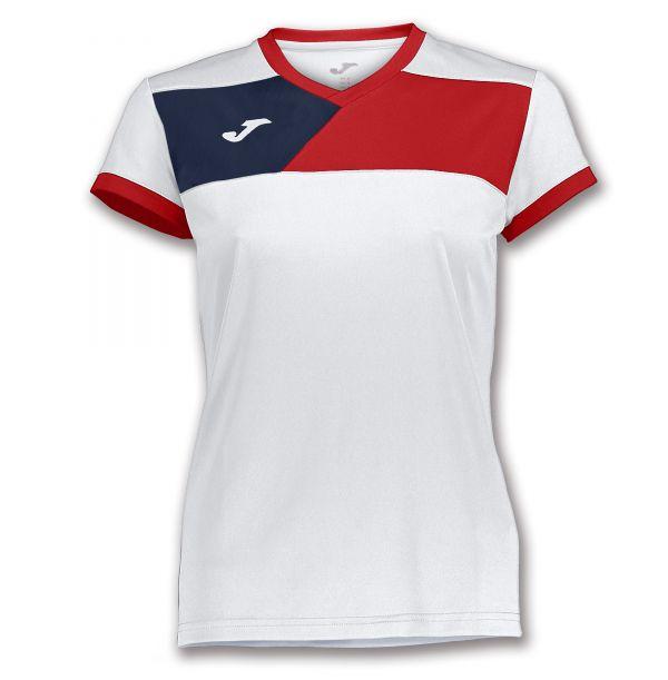 Joma T-shirt Crew II til damer - Hvid/Rød