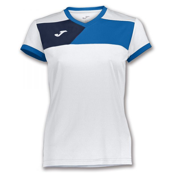 Joma T-shirt Crew II til damer - Hvid/Blå