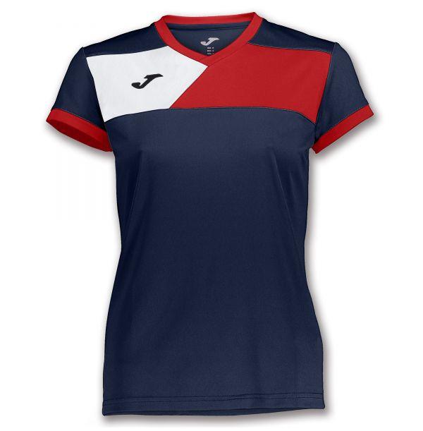 Joma T-shirt Crew II til damer - Mørkeblå/Rød