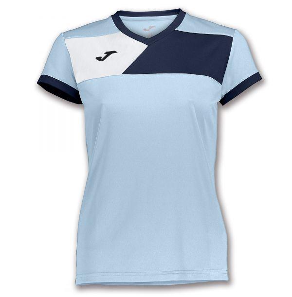 Joma T-shirt Crew II til damer - Lyseblå/Mørkeblå