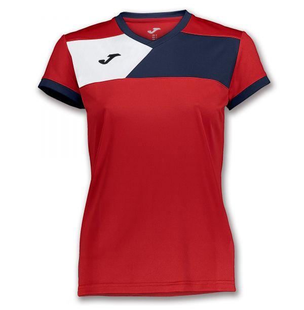 Joma T-shirt Crew II til damer - Rød/Mørkeblå
