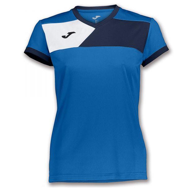 Joma T-shirt Crew II til damer - Blå/Mørkeblå