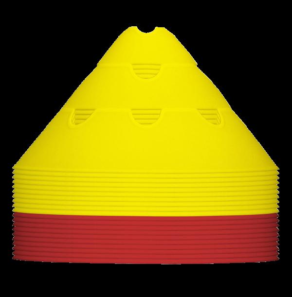 Røde og gule jumbo kegler