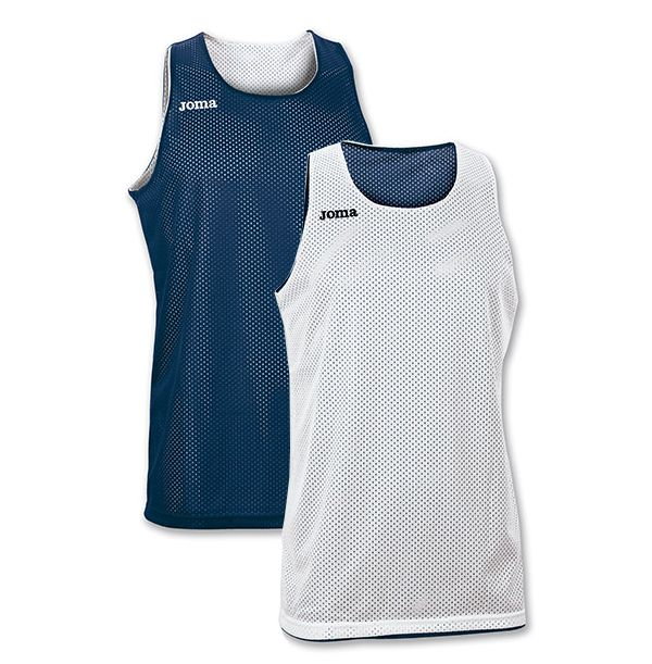 Vendbar Joma Basketballtrøje - Mørkeblå/Hvid