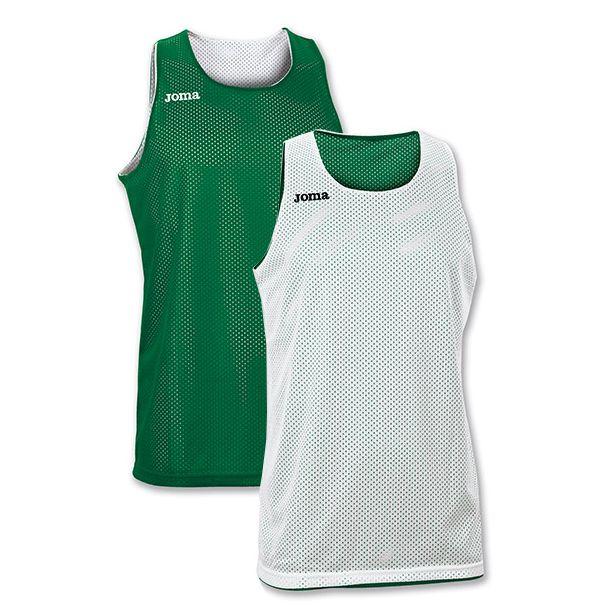 Vendbar Joma Basketballtrøje - Grøn/Hvid
