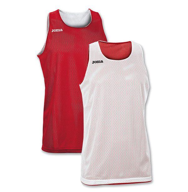 Vendbar Joma Basketballtrøje - Rød/Hvid