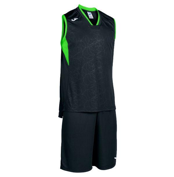 Basket sæt Campus sort/grøn