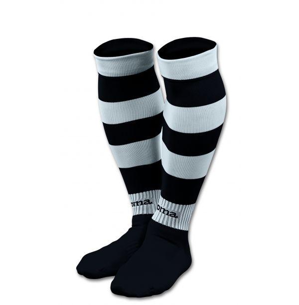 Stribede fodboldstrømper sort/hvid