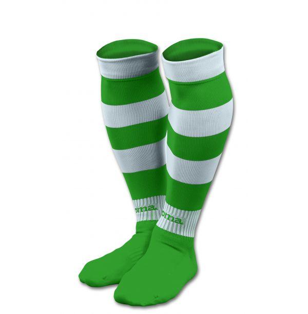Stribede fodboldstrømper grøn/hvid