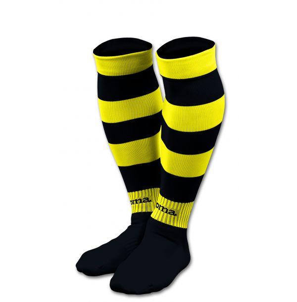 Stribede fodboldstrømper gul/sort