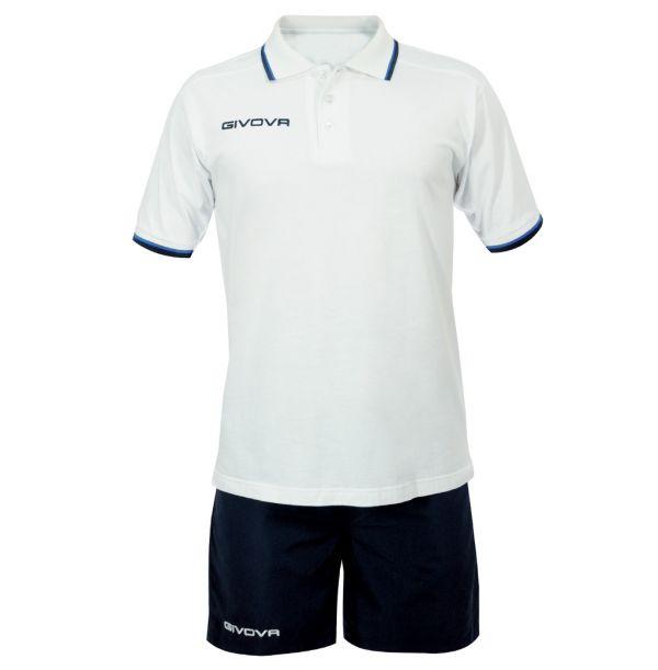 Kit Street Polo/shorts sæt - hvid/blå