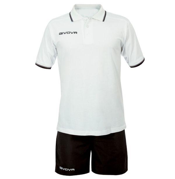 Kit Street Polo/shorts sæt - hvid/sort