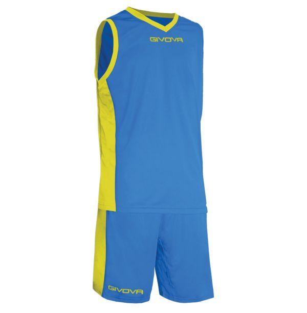 Givova Kit Power Basketsæt - royalblå/gul