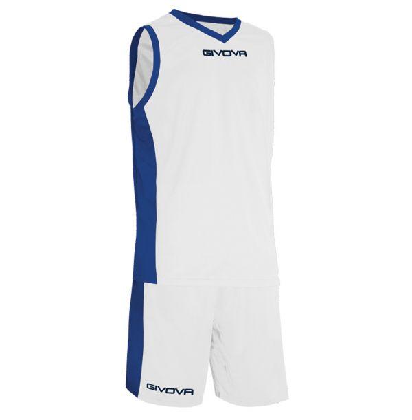 Givova Kit Power Basketsæt - hvid/mørkeblå
