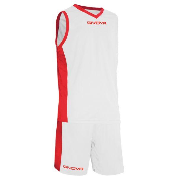 Givova Kit Power Basketsæt - hvid/rød