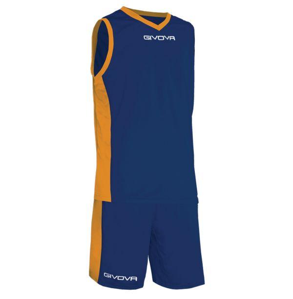 Givova Kit Power Basketsæt - blå/orange
