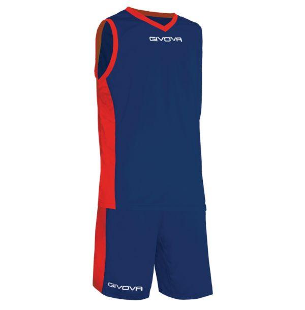 Givova Kit Power Basketsæt - blå/rød