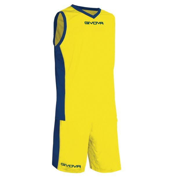Givova Kit Power Basketsæt - gul/mørkeblå