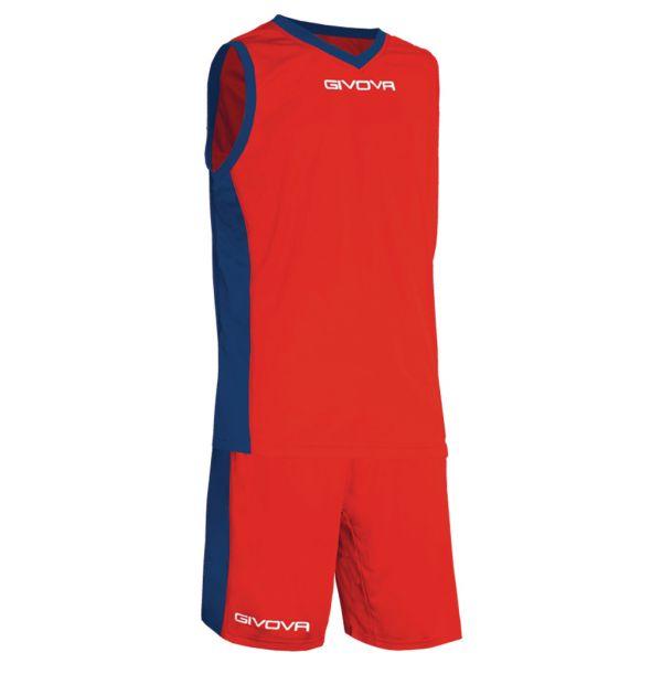 Givova Kit Power Basketsæt - rød/blå