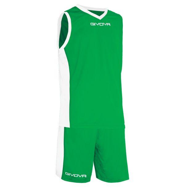 Givova Kit Power Basketsæt - grøn/hvid