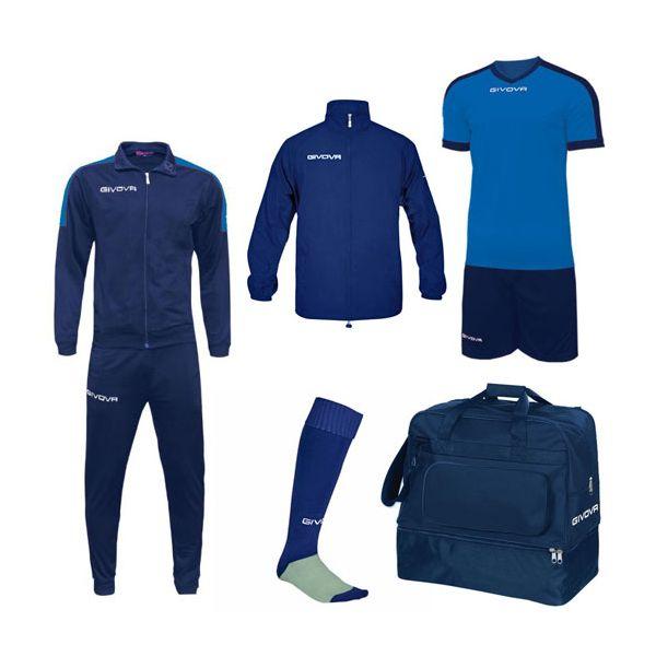 Lille Fodboldpakke - blå/blå