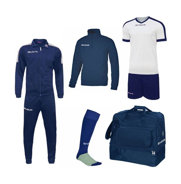 Lille Fodboldpakke - Blå/hvid