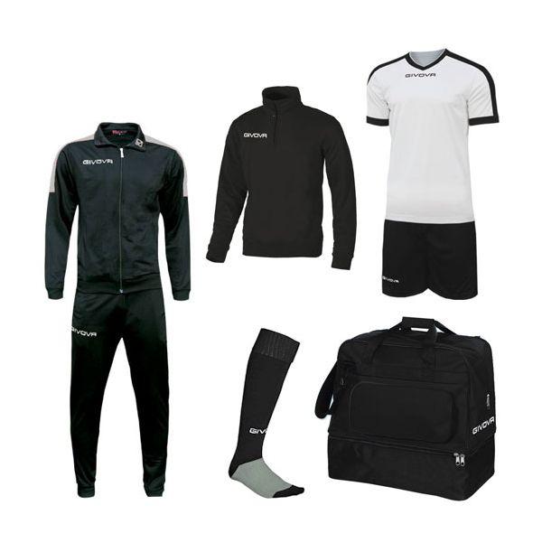 Lille Fodboldpakke- sort/hvid