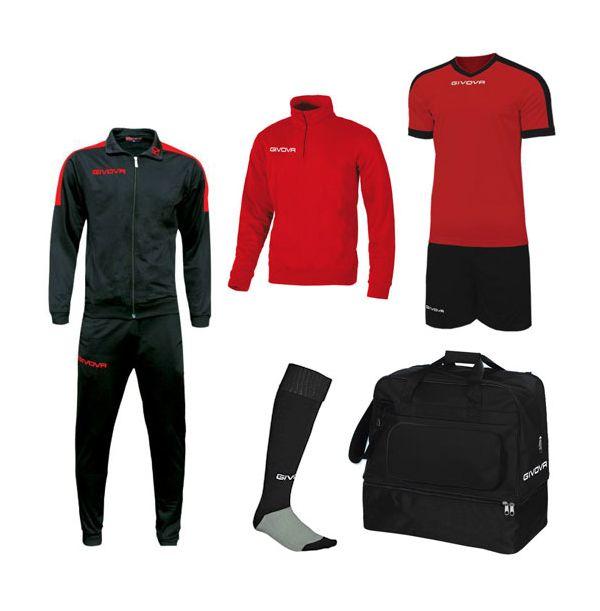 Lille Fodboldpakke - Sort/rød