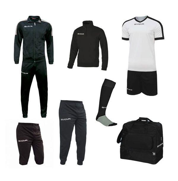 Mellem Fodboldpakke - sort/hvid