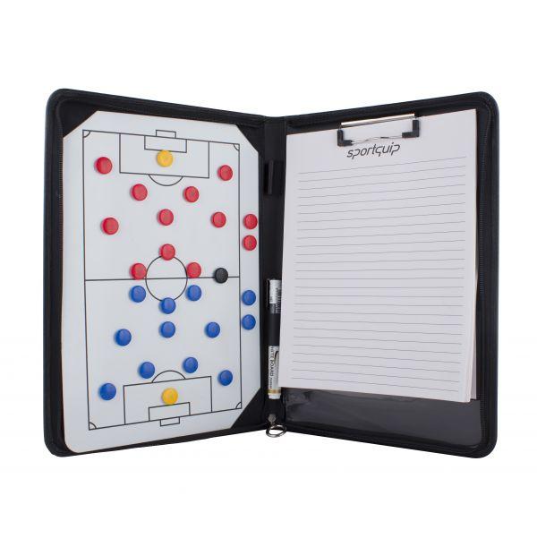 Taktikmappe med skriveblok og magneter - Fodbold