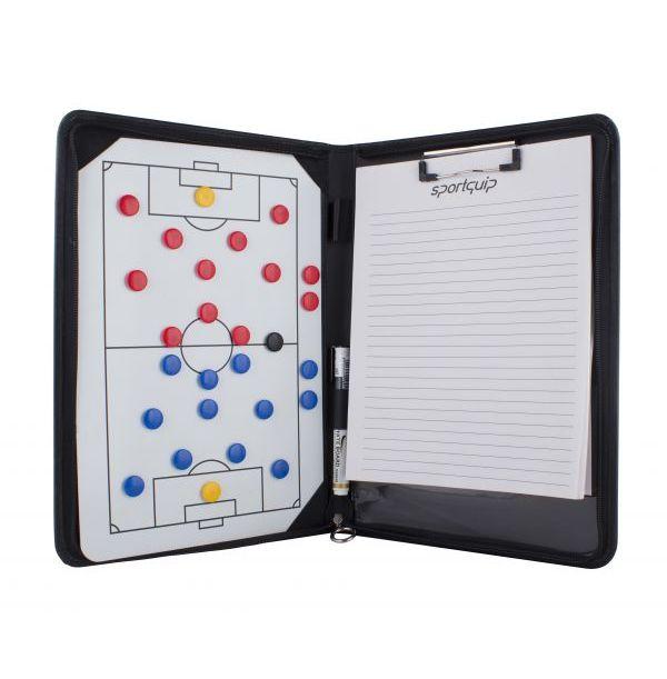 Taktikmappe med skriveblok og magneter - Håndbold