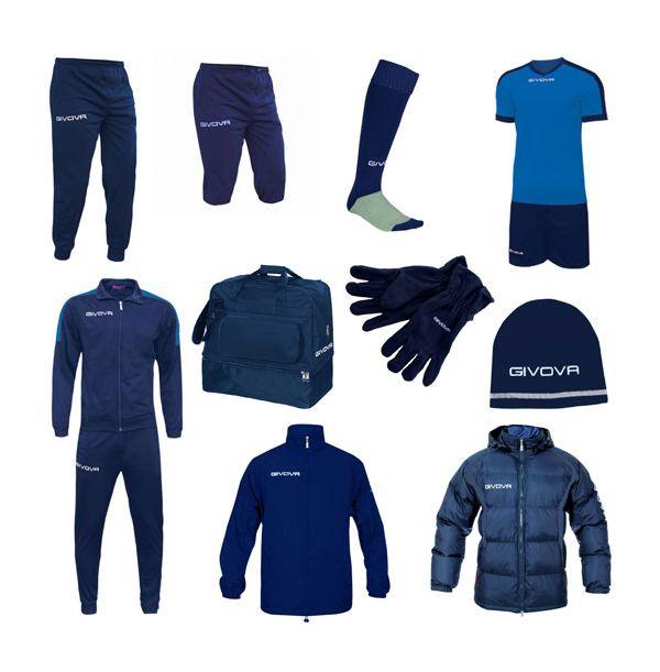 Stor Fodboldpakke - blå/blå
