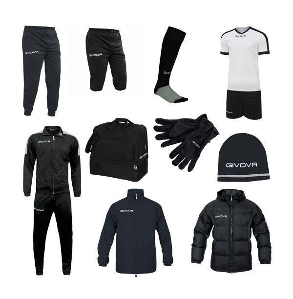 Stor Fodboldpakke - sort/hvid