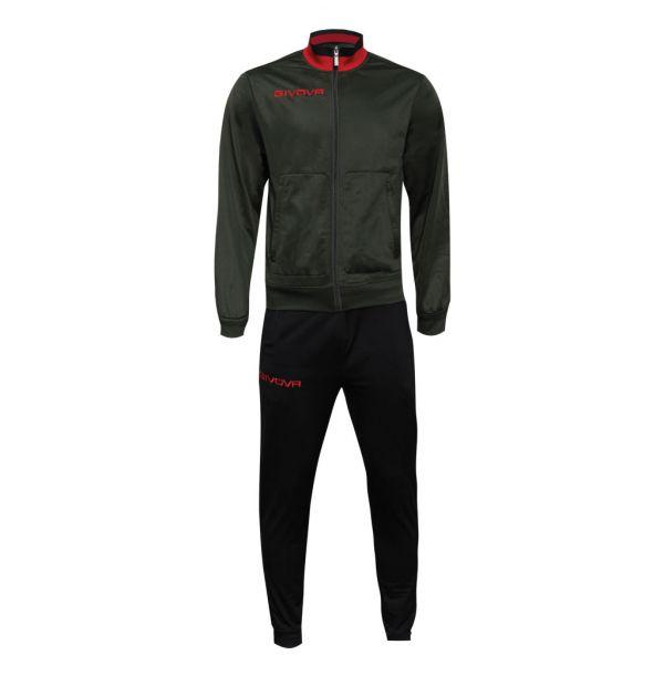 Træningsdragt - Militare - grøn/rød/sort