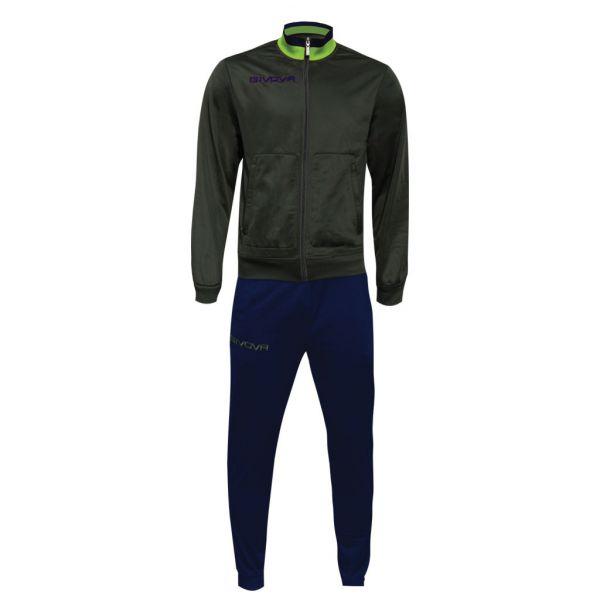 Træningsdragt - Militare - grøn/lime/blå