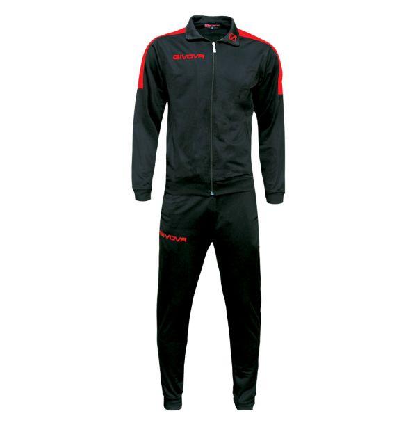 Træningsdragt - Revolution - sort/rød